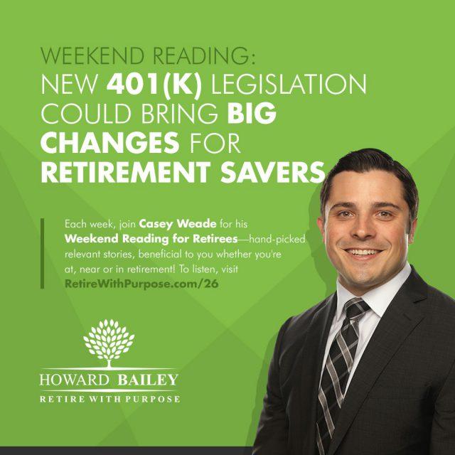 401k Legislation Retirement Savers