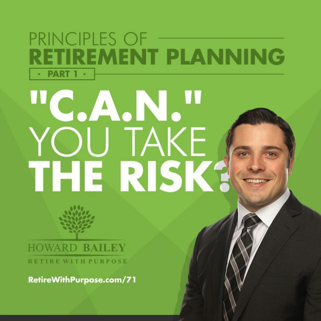 Principles of Retirement Planning Part 1 C A N You Take the Risk