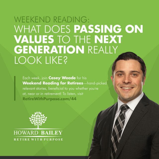 Casey weade passing on values