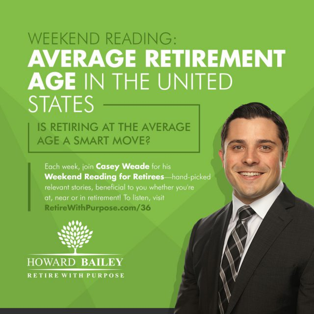 Casey weade retiring at average age