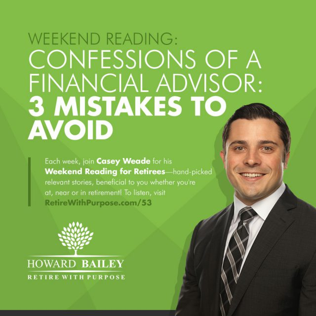Confessions of a financial advisor casey weade