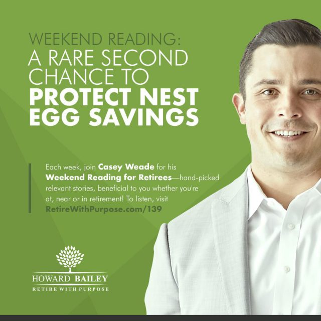 Protest nest egg savings