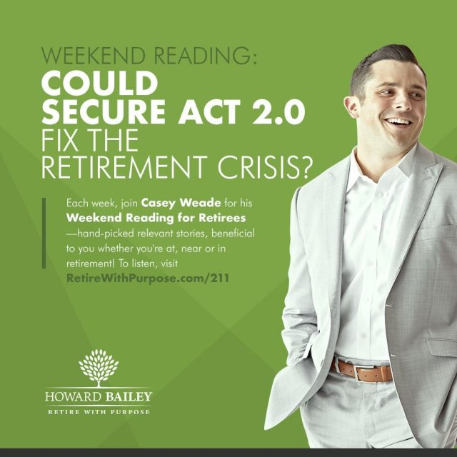 Secure act retirement crisis casey weade