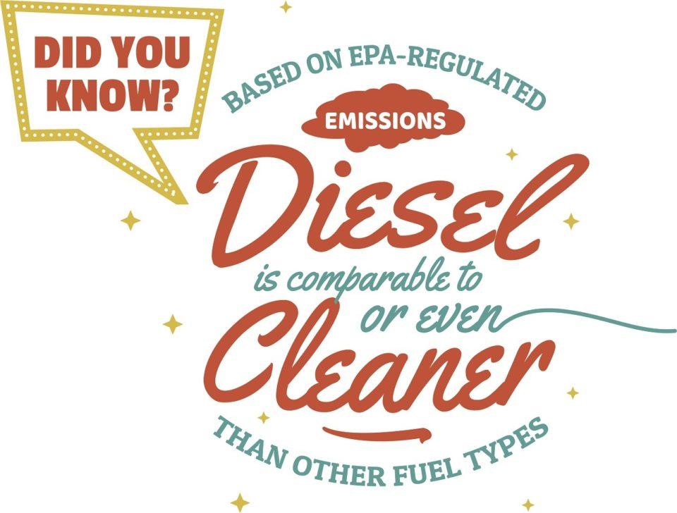 Diesel is cleaner