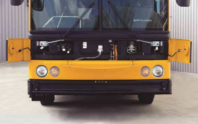 Thomas build buses hdx front panel open