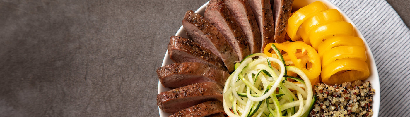Farm to fork duck breast bowl