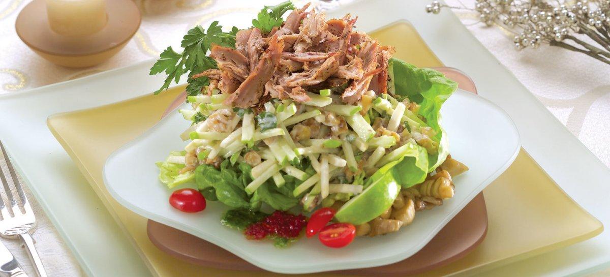 Apple duck salad