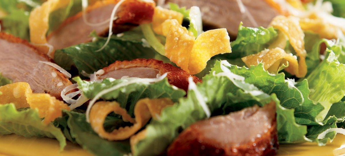 Asian caesar duck salad