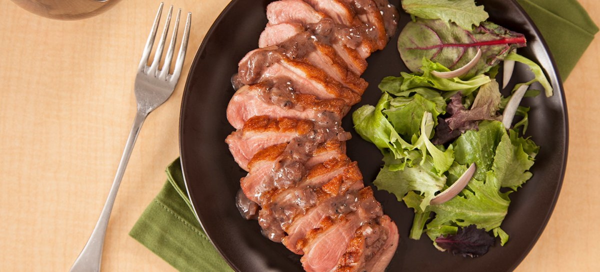 Bistro duck breasts