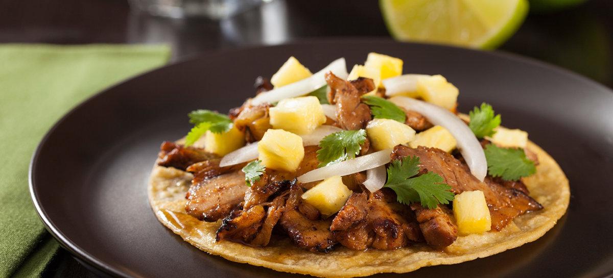 Duck al pastor tacos