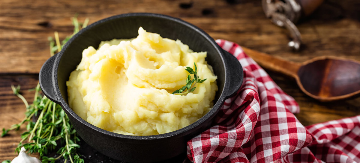Garlic duck fat mashed potatoes