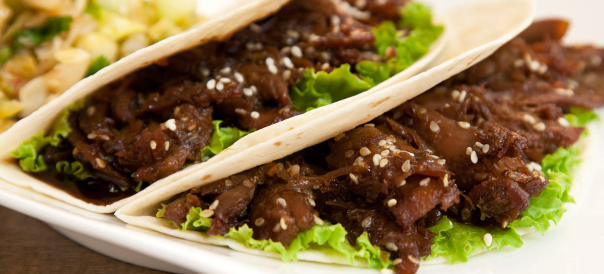 Korean bbq duck tacos