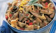 Rotisserie half duck and pasta