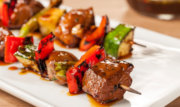 Thai bbq duck kabobs