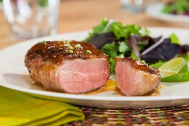 Breast of duck with lime sauce