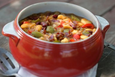 Duck bacon barbecued bean casserole