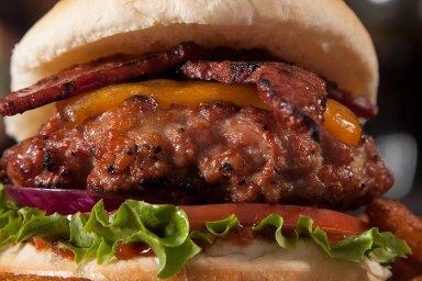 Duck bacon burgers