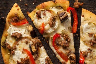 Italian duck pizza