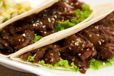 Korean bbq duck tacos