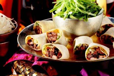 Peking duck rolls