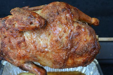 Rotisserie duck