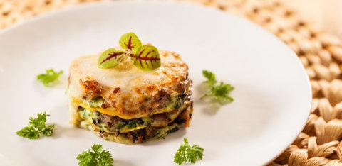 Butternut squash duck lasagna