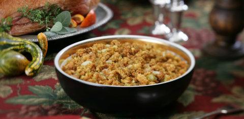 Savory sage cornbread stuffing