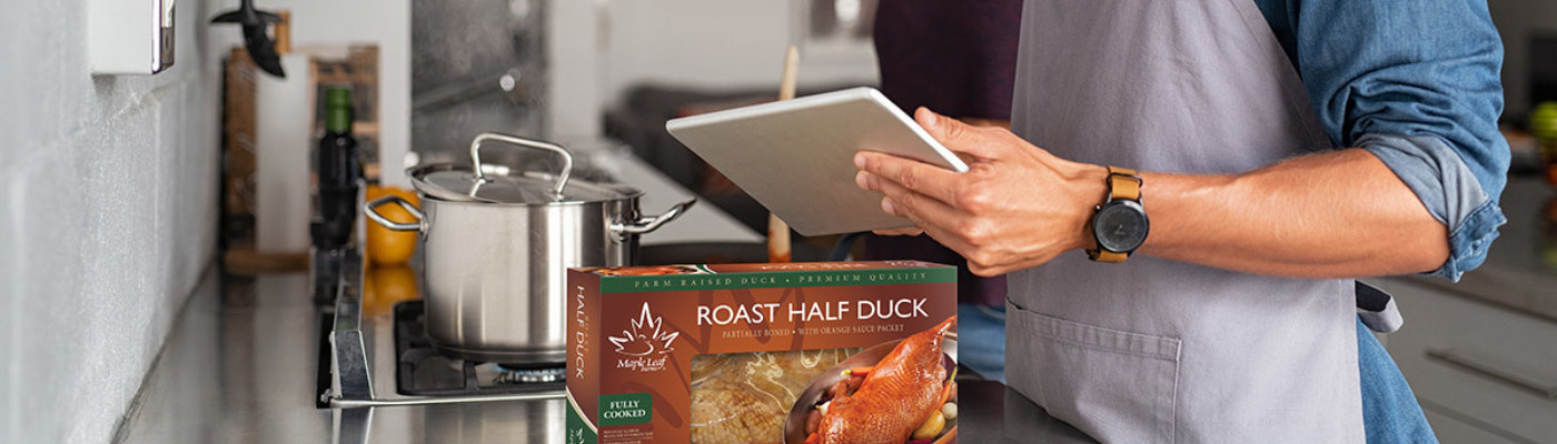 Cooking duck banner