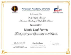 ACF Certificate 2019