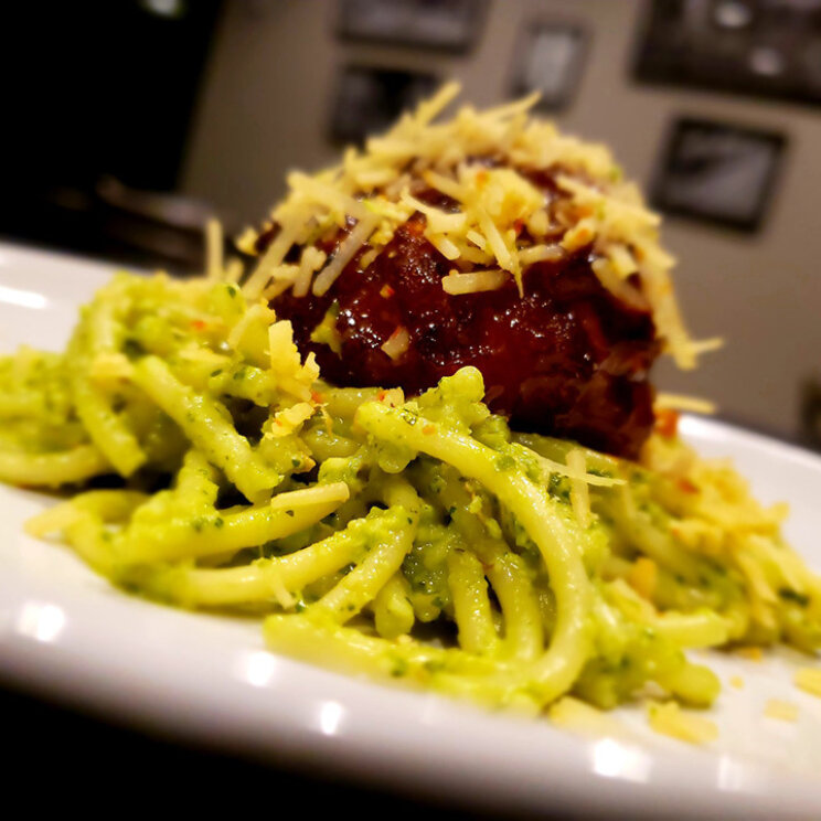 2nd course meatball and pasta