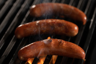 Smoked Duck Sausage Grill
