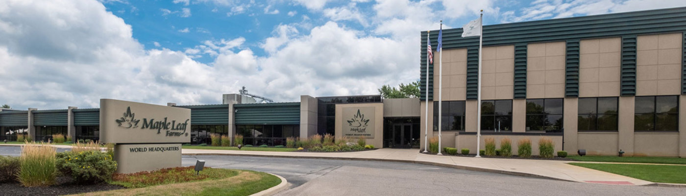 Maple leaf farms company banner