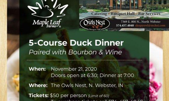 5 Course Duck Dinner Event Flyer FINAL 2