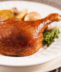Duck leg plated