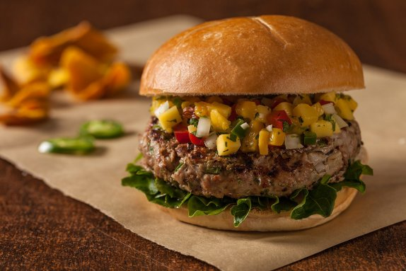 Jalapeno duck burger