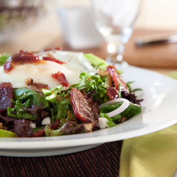 Duck bacon salad