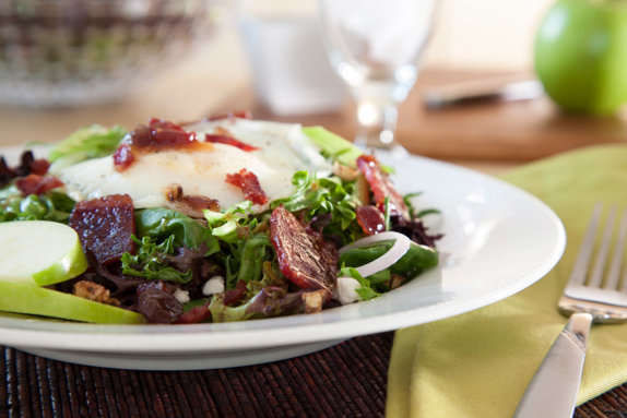 Duck bacon salad