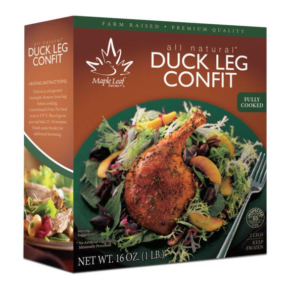 Duck leg confit package