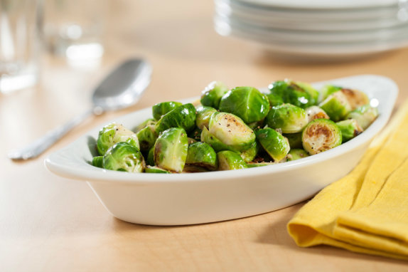 Brussels sprouts in duck fat