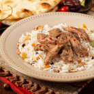 North african duck tenders plated
