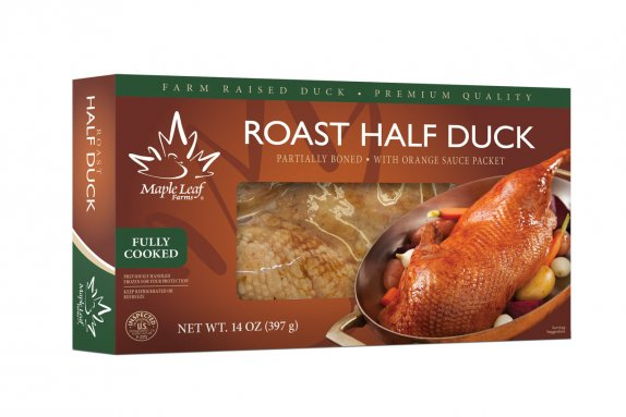 Roast half duck package