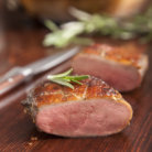 Roasted Garlic - Boneless Gourmet Flavored Duck Breast, Skin On styled