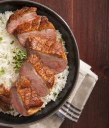 Southwest - Boneless Gourmet Flavored Duck Breast, Skin On plated