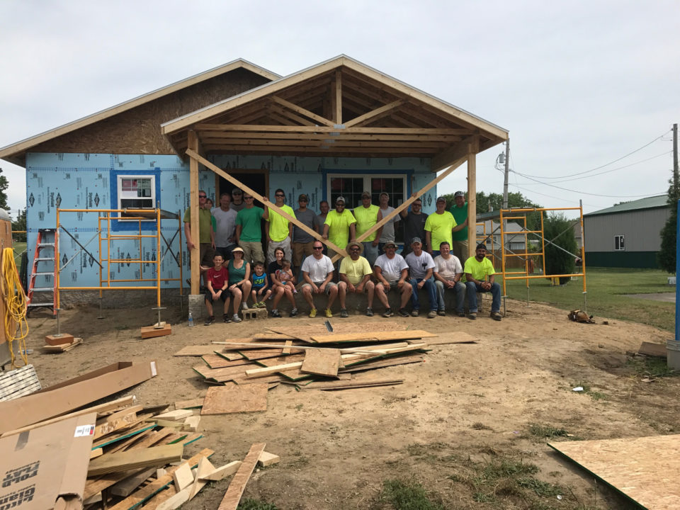 Habitat for humanity volunteering