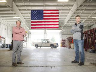 Scott brian shop flag truck
