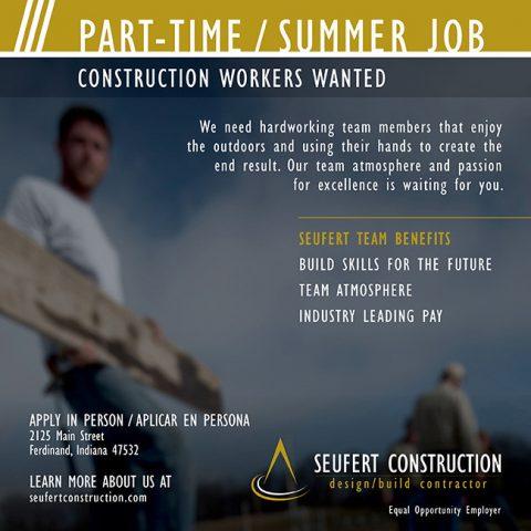 Seufert hiring parttime