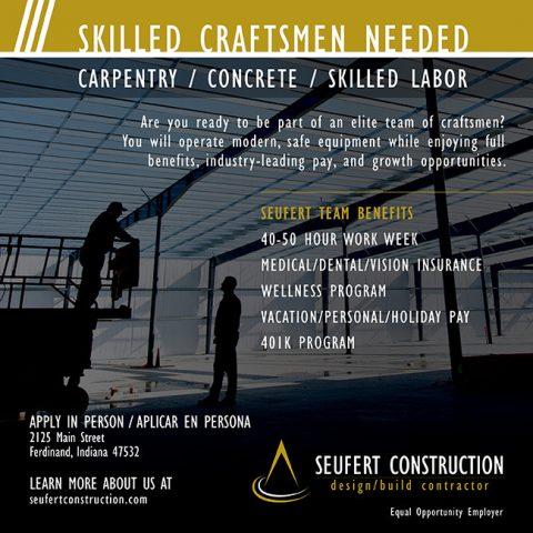 Seufert hiring skilledcraftsmen