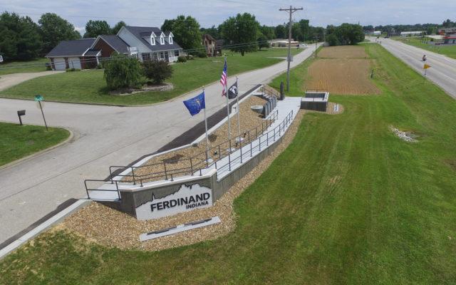 Veterans memorial drone