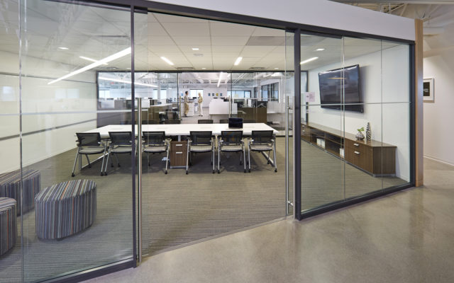 NOF conference room glass