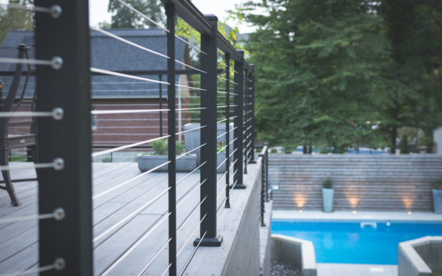 Residential pool railing
